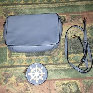 Handbags - Winter blue purse